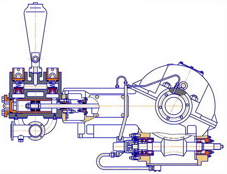 Схема насоса НЦ-320 (9Т)