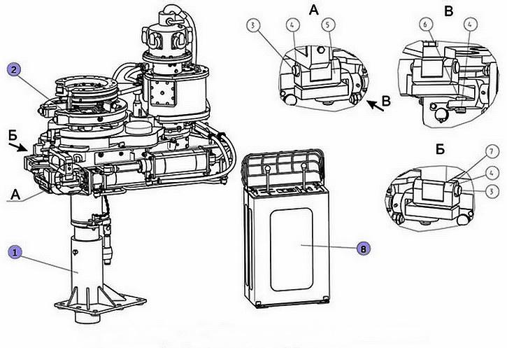 Схема бурового ключа АКБ-4