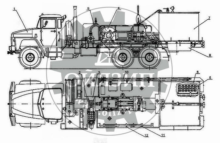 Схема агрегата ЦА-320 (АНЦ-320)