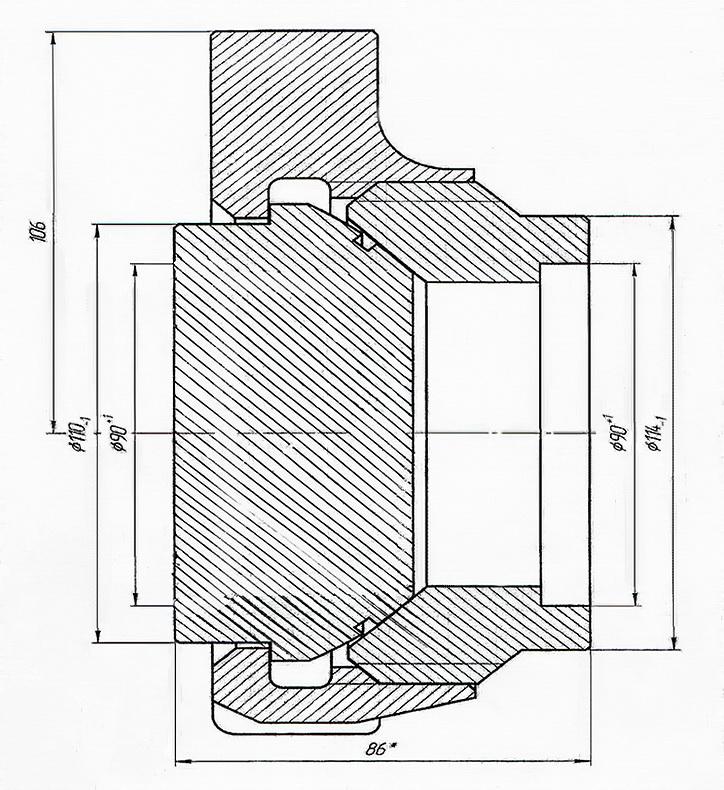 БРС ООО «ОЙЛЗИП» БРС-3 под приварку глухой конус Быстроразъёмное соединение БРС