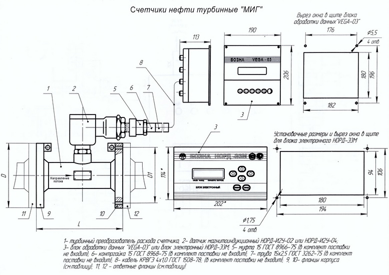 Схема счётчика нефти МИГ