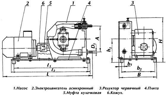 Схема насосного агрегата НП-10 НП-16 на базе перистальтических насосов НП-10 НП-16.