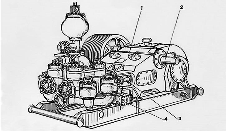 Схема бурового насоса УНБ-600