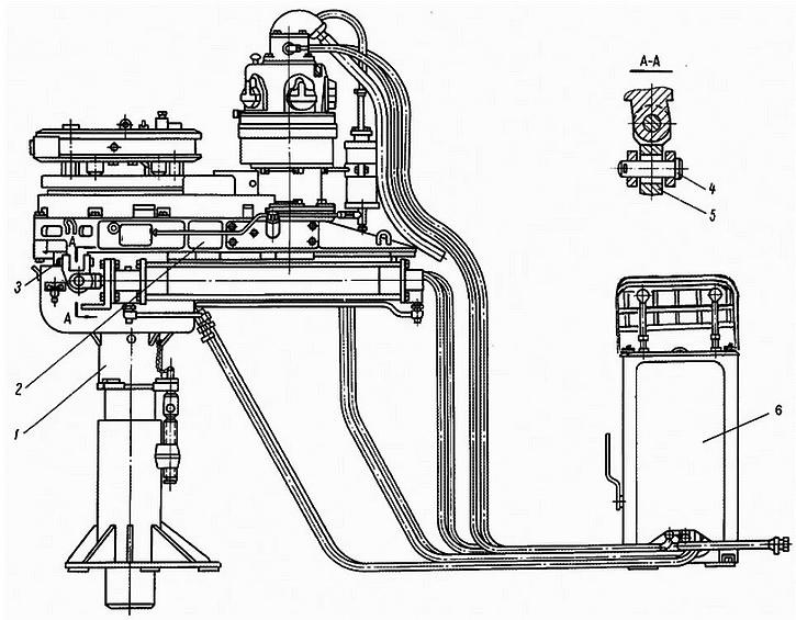 Схема бурового ключа АКБ-3М